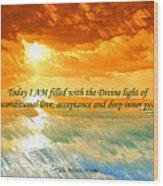 Divine Light - Ss1200b Wood Print