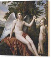 Divine Love And Profane Love Wood Print