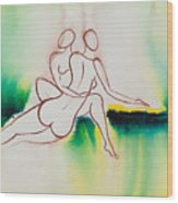 Divine Love Series No. 2090 Wood Print