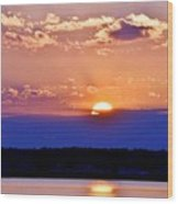 Divine Sunset On The Indian River Bay Wood Print