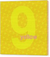 Divine Yellow Number Nine Wood Print