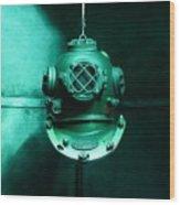 Diving Helmet Wood Print