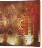Diwali Card Lamps And Murals Blue City India Rajasthan 2h Wood Print