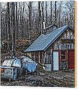 Dix Family Sugar House Wood Print