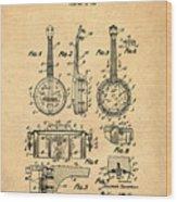 Dixie Banjolele Patent 1954 In Sepia Wood Print