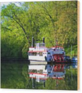 Dixie Belle River Boat Wood Print