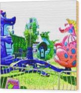 Dizzy Dragon Ride 1 Wood Print