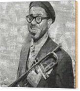Dizzy Gillespie Vintage Jazz Musician Wood Print