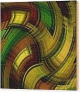 Dizzy Plaid Wood Print
