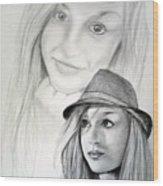 Dj-minnie Wood Print