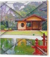 Djg-0004 Pavilion View Of Teahouse Wood Print
