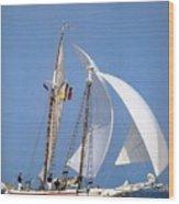 dk tall ships fiddlers green gaff schooner lyr 1973 D K Spinaker Wood Print