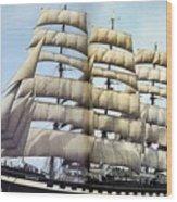 dk tall ships kruzenshtern barque lyr 1926 full D K Spinaker Wood Print