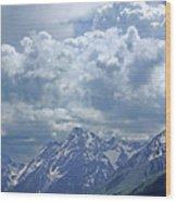 Dm9233 Clouds Over Mt. Moran V Wood Print