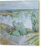 Dnepro River Wood Print