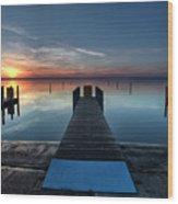 Dnr West Boat Launch Sunrise Wood Print