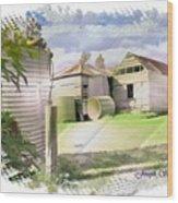 Do-00027 Old Cottage Wood Print
