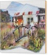 Do-00034 Bridge And Hutt Wood Print