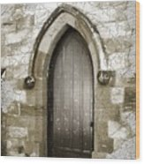 Do-00055 Chapels Door In Morpeth Village Wood Print