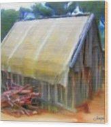Do-00069 Small Hut Wood Print