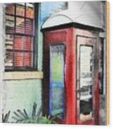 Do-00091 Telephone Booth In Morpeth Wood Print