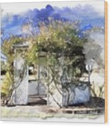 Do-00118 Gazebo Wood Print