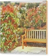 Do-00122 Inviting Bench Wood Print