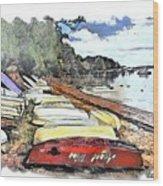 Do-00124 Tender Boats Wood Print