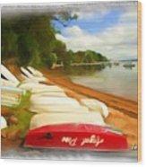 Do-00125 Tender Boats Wood Print