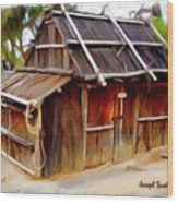 Do-00129 Old Cottage Wood Print