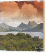 Do-00140 Cradle Mountains Wood Print