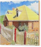 Do-00142 House And Fence Wood Print
