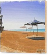 Do-00155 Beach At Royal Mirage Hotel Wood Print
