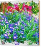 Do-00221 Flowers Wood Print