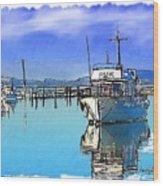 Do-00231 Hvk Boat Gosford Wood Print