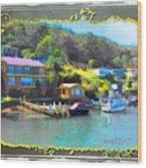 Do-00243 Houses On Brisbane Water Wood Print
