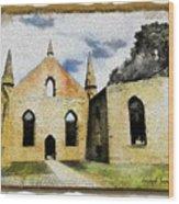 Do-00247 Church At Port Arthur Wood Print