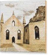 Do-00248 Church At Port Arthur Wood Print