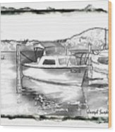 Do-00250 A Boat Wood Print