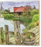 Do-00251 A Farm In Hunter Valley Wood Print