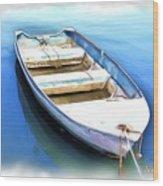 Do-00269 Boat In Killcare Wood Print
