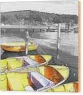 Do-00279 Yellow Boats Wood Print