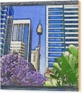 Do-00285 Sydney Centre Tower In Spring Wood Print