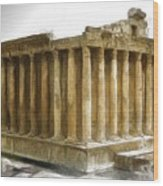 Do-00311 The Temple Of Bacchus Baalbeck Wood Print