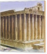 Do-00312 Temple Of Bacchus In Baalbeck Wood Print