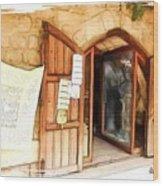Do-00345 Display Door In The Souk Of Byblos Wood Print