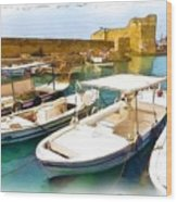 Do-00350 Byblos Port Wood Print