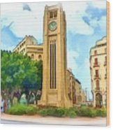 Do-00358 The Clock Tower Wood Print