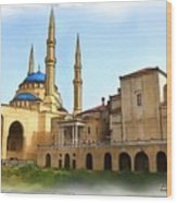 Do-00362al Amin Mosque And St George Maronite Cathedral Wood Print
