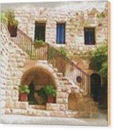Do-00374 Old Building In Deir El-kamar Wood Print